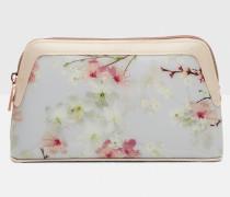 Make-up-Tasche mit Oriental Blossom-Print