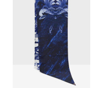 Schmaler Schal mit Persian Blue-Print