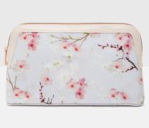 Kosmetiktasche mit Oriental Blossom-Print