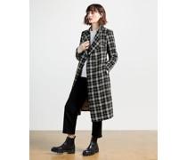 Monochrome Check Bouclé Coat