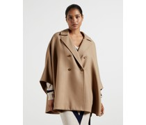 Double-Breasted Cape Coat