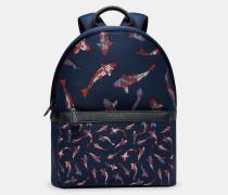 Neopren-rucksack Mit Fisch-print