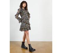 Printed Long Sleeve Mini Dress