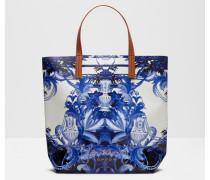 Großer Shopper mit Persian Blue-Print