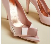 Satin Bow Detail Court Shoes