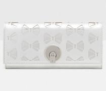 Leder-Portemonnaie mit durchbrochener Schleife