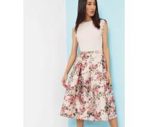 Midirock mit Blossom Jacquard-Print