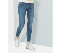 Skinny-Jeans in mittlerer Waschung