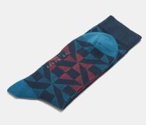 Baumwollsocken Mit Geometrischem Print