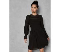 Besticktes Kleid mit Voluminösen Ärmeln