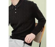 Strick-Polohemd mit geometrischem Muster