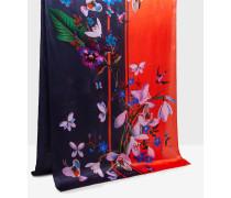 Langer Seidenschal mit Tropical Oasis-Print