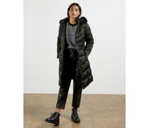 Long Belted Padded Coat