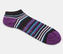 Gestreifte Sneaker-socken Aus Baumwolle