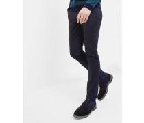 Slim-Fit-Hose mit Mini-Design