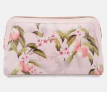 Kosmetiktasche Mit Peach Blossom-print