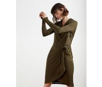 Jersey Drape Long Sleeve Mini Dress