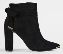 Bow Detail Heeled Boots