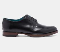 Derby-Schuhe aus glänzendem Leder