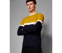 Baumwoll-pullover In Blockfarben