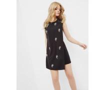 Tunika-Kleid mit Schmuckdetail