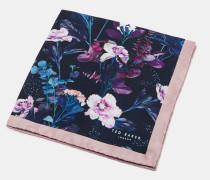 Einstecktuch aus Seide mit Blumen-Print