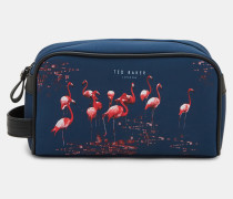 Kosmetiktasche Mit Flamingo-print