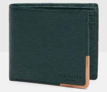 Leder-Portemonnaie mit Metallborte