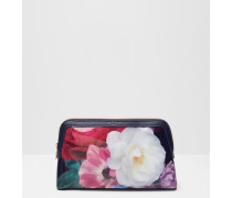 Große Kosmetiktasche mit Blushing Bouquet-Print