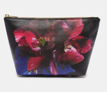 Make-up-Tasche mit Impressionist Bloom-Print