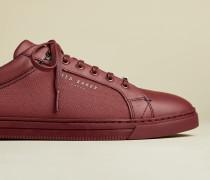 Sneakers aus Leder und Stoff