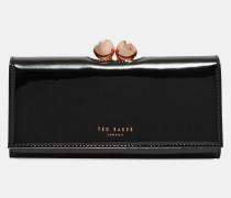 Lackleder-portemonnaie Mit Kugelverschluss