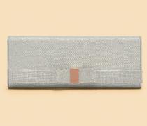 Satin-clutch Mit Schleifendetail