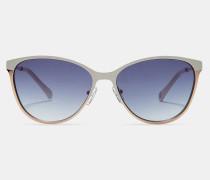 Colour-block Metal Sunglasses