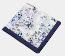 Seiden-Einstecktuch mit Blumen-Print