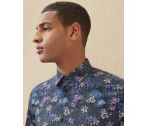 Baumwollhemd mit floralem Print