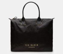 Große Tote-Bag mit exotischem Finish