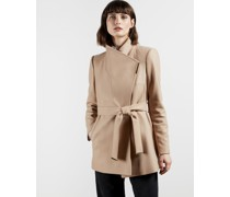 Wool Wrap Short Coat