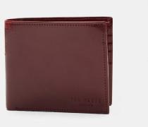 Aufklappbares Portemonnaie aus Leder