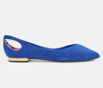 Spitze flache Schuhe mit Cut-out-Detail
