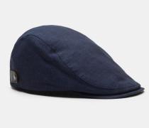 Flache Kappe aus einer texturierten Leinenmischung