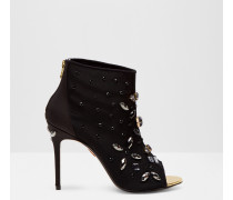 Verzierte Peeptoe-Ankle Boots