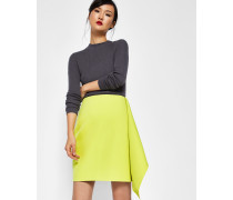 Asymetric Frill Pencil Skirt
