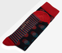 Socken mit Punkt- und Streifenmuster