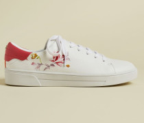 Leather Floral Trainers