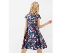 Skater-Kleid mit Folk Foliage-Print