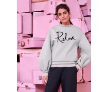 Sweatshirt Mit Weiten Ärmeln Und relax-detail
