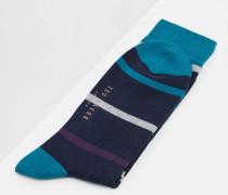 Gestreifte Socken aus Bio-Baumwoll-Mix