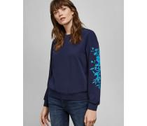 Pullover mit Bluebell-Stickerei