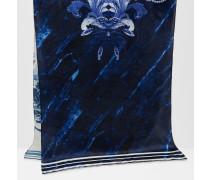 Seidenschal mit Persian Blue-Print